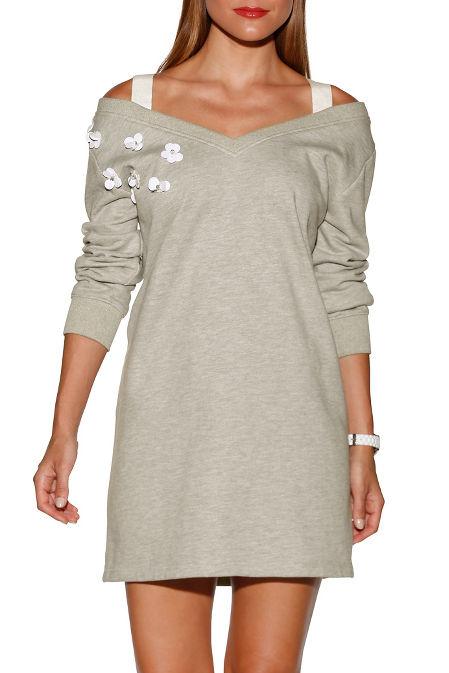 3D floral sweatshirt dress image
