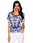 China Print Short Sleeve Sweater Photo