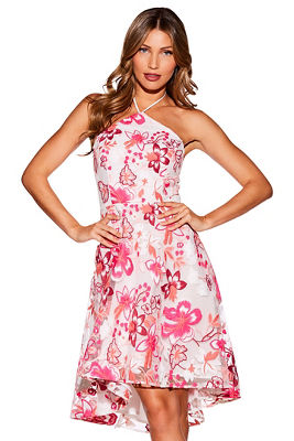 Fit-and-flare embroidered dress