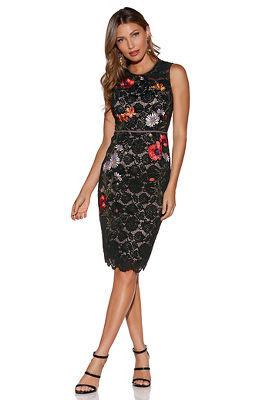 Display product reviews for Floral embroidered lace dress