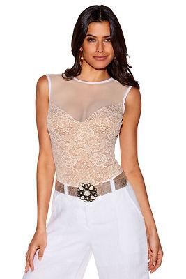 lace sweetheart bodysuit