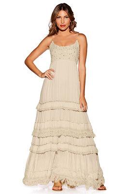 Mirror embellished maxi dress