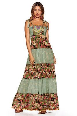 Nomad camo embellished maxi dress