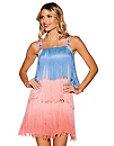 Ombre Fringe Embellished Dress Photo