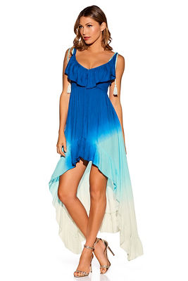 Ombre hi-lo maxi dress