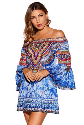 Off the Shoulder Embellished Dress