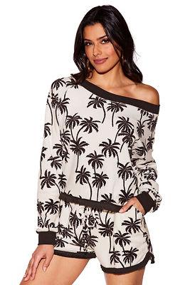 Palm print sweatshirt