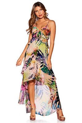 Paradise palms maxi dress