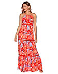 Red Floral Maxi Dress Photo