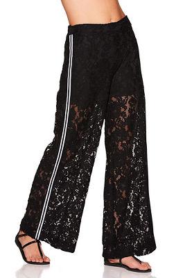 Side stripe lace pant
