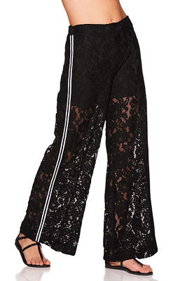 Side stripe lace pant