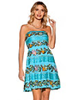 Strapless Colorful Embellished Dress Photo