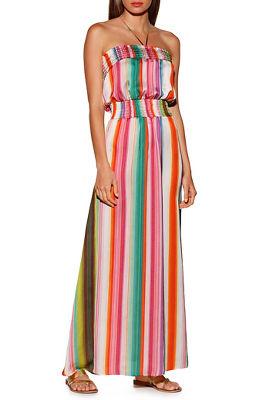 Stripe Strapless Maxi Dress by Boston Proper