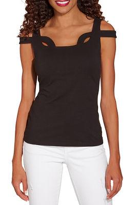 So Sexy™ cutout neckline cold shoulder top