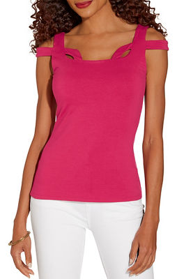 So Sexy™ cutout neckline cold shoulder top