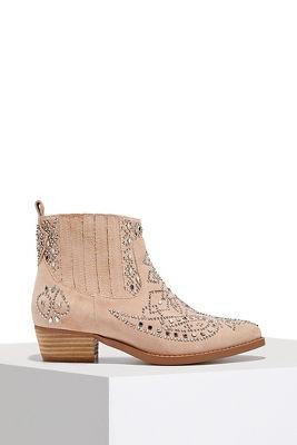 Embellished western bootie