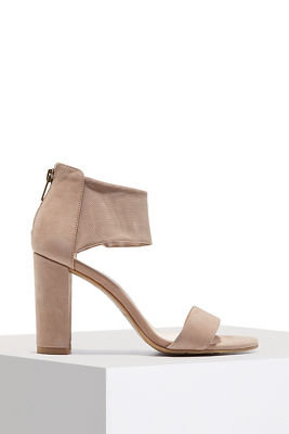 Mesh ankle travel heel