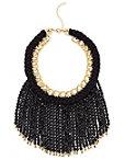 Black Fringe Beaded Necklace Photo