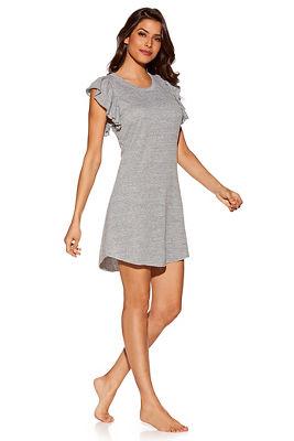 Ruffle sleeve lounge dress