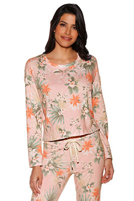 Tropical floral sweatshirt