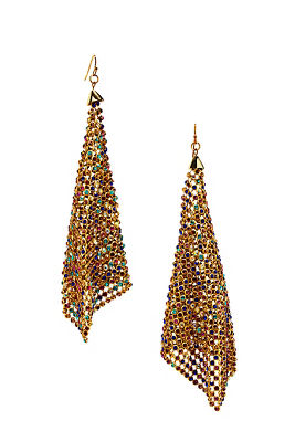 chain mesh earrings