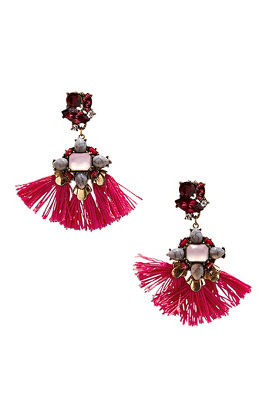 studded tassel earrings