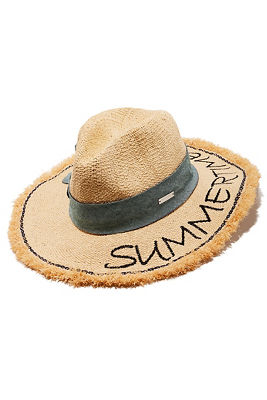 Summertime frayed hat