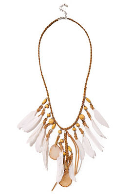 Braided feather necklace
