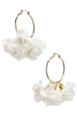3d rose hoop earrings