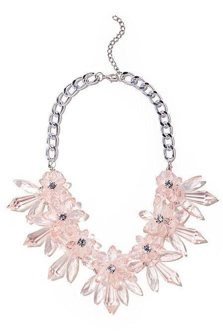 Lucite floral necklace image