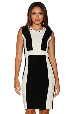 Beyond travel&#8482 colorblock grommet dress