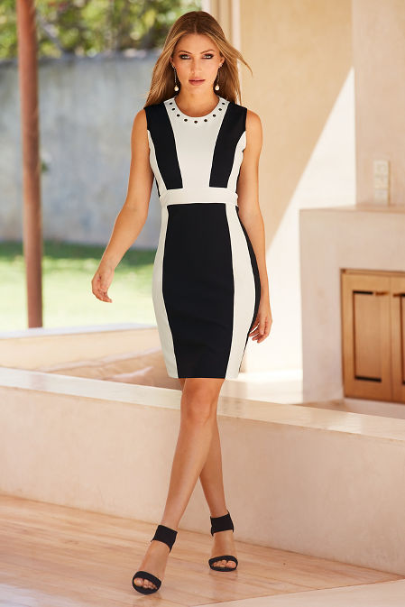 Beyond travel™ colorblock grommet dress image