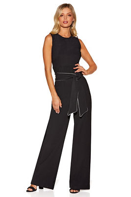 Beyond travel&#8482 colorblock tie jumpsuit