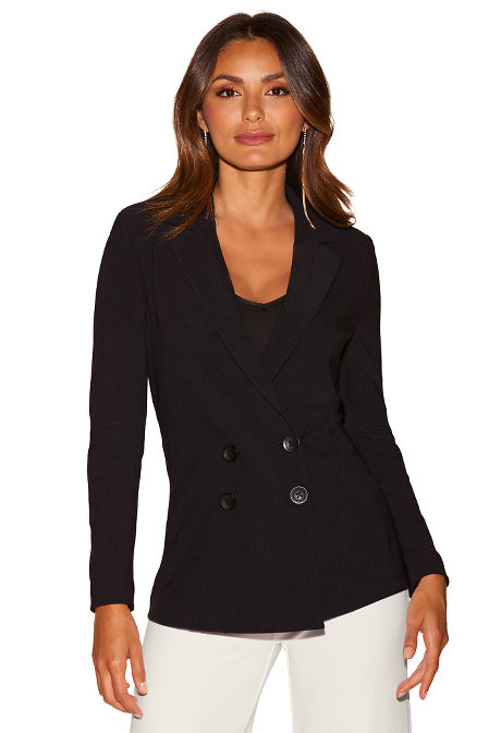 Beyond travel™ double-breasted jacket image