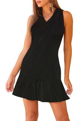 Beyond travel&#8482 v-neck flutter dress