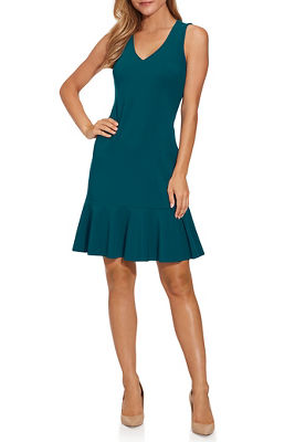 Beyond travel&#8482 v-neck flutter dress