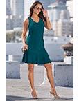 Beyond Travel™ V-neck Flutter Dress Photo