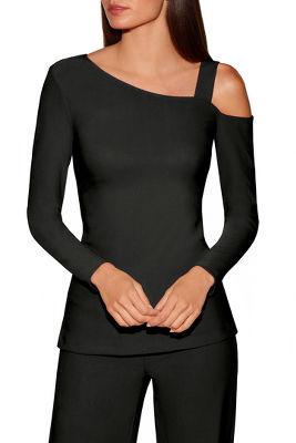 Beyond travel™ one shoulder long-sleeve top