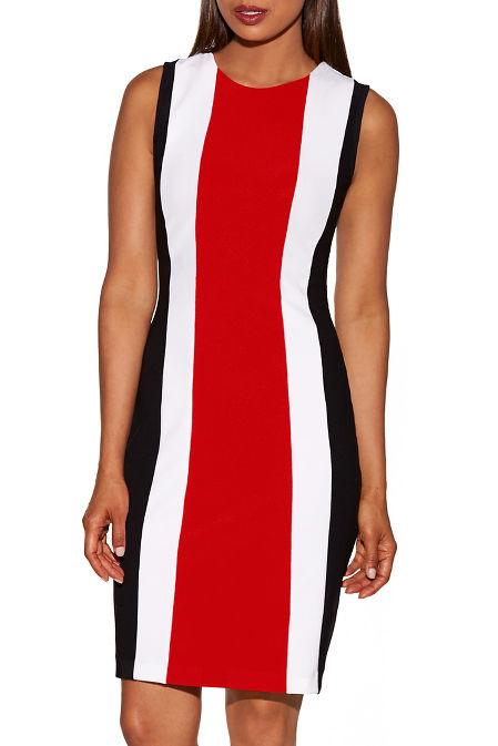 Beyond travel™ tri colorblock dress image