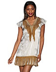 Beaded Fringe Python Dress Photo