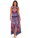 Colorful Border Print Maxi Dress Photo