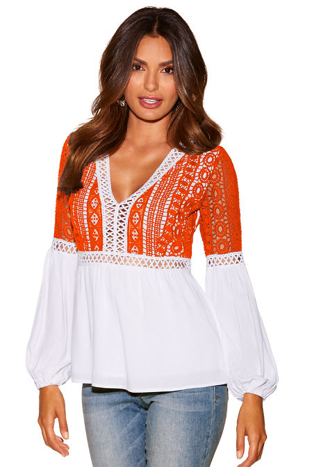 Crochet lace boho top image
