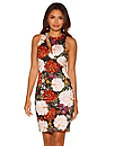 Floral Cutout Scuba Dress Photo