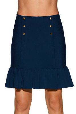 beyond travel™ ruffle military skirt