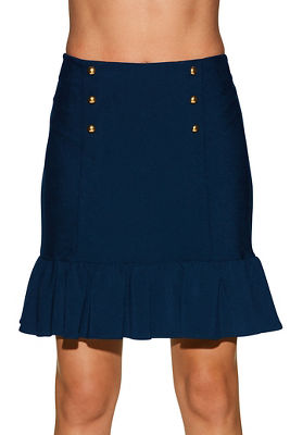 Beyond travel™ ruffle military skirt