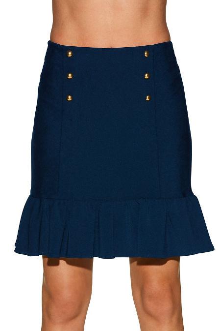 Beyond travel™ ruffle military skirt image