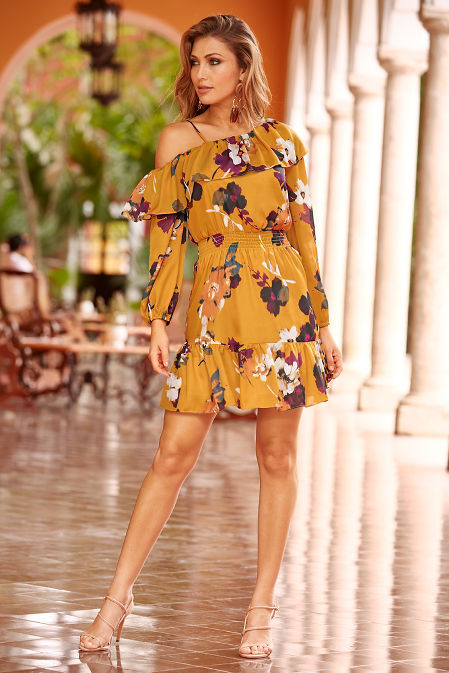 Asymmetric one-shoulder dress image