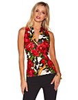 Deep V Floral Scuba Top Photo