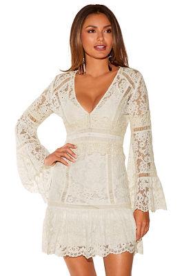 Flare sleeve lace dress
