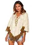 Fringe And Pearl Poncho Photo
